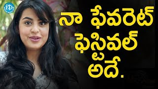 Ganesh Chaturthi Is My Favourite Festival - Sasha Singh || Talking Movies With iDream - IDREAMMOVIES