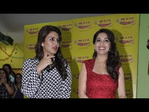 Madhuri And Huma Promoting 'Dedh Ishqiya'