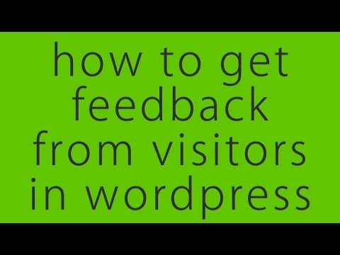 Easily Collect Visitors Feedback In Any Page In WordPress