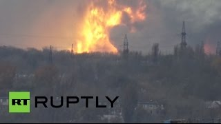 RAW: Chemical plant blast rocks Donetsk, fireballs & smoke pillars in the sky - RUSSIATODAY