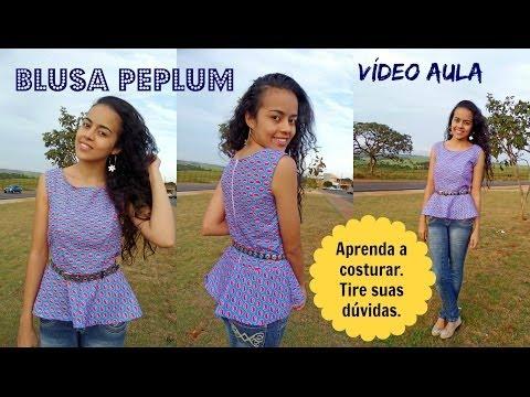 Como costurar Blusa Peplum  Alana Santos Blogger