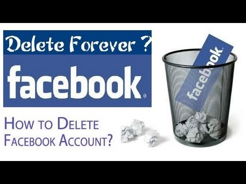 How to Delete Facebook Account 2013 | How to