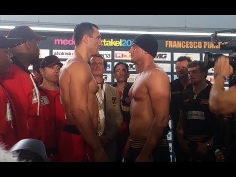 Weigh-in: Wladimir Klitschko vs Francesco Pianeta