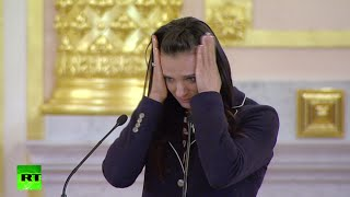RAW: Olympic champion Isinbayeva gets emotional speaking on Russian athletes ban - RUSSIATODAY