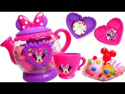 Minnie Mouse Bow-tique Play Doh Tea Playset Disney Junior Mickey Mouse Toys Juego de Té Plastilina