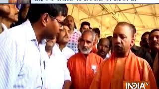 Yogi Adityanath pays surprise visit to Roja Gehu Mandi in Shahjahanpur - INDIATV