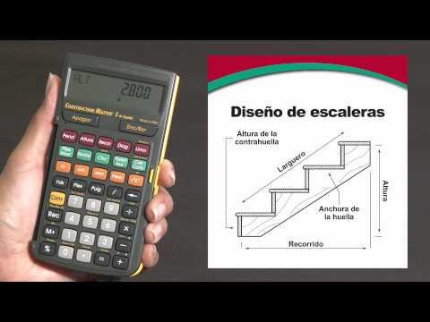 Construction Master 5 en Español -- Simplifica todos sus cálculos para sus diseños de escaleras