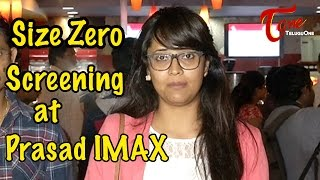 Size Zero Movie Screening at Prasad IMAX || Anushka Shetty || Arya - TELUGUONE