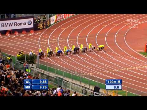 Justin Gatlin Beats Usain Bolt 100M Rome Diamond League 2013 -K9j1H6SEWgw