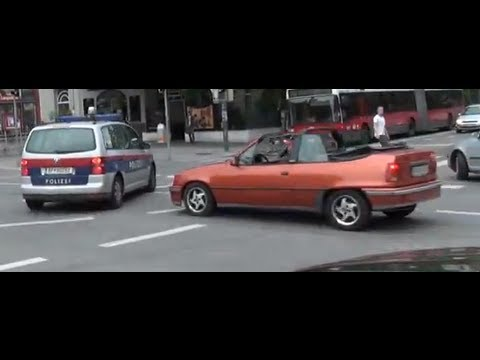 Special Video: Beinahe-Unfall mit Polizei / Near Accident Police Car