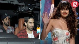Arjun, Ranbir, Karan Attend 'Bareilly Ki Barfi' Screening | Disha Avoids Interacting With Media? - ZOOMDEKHO