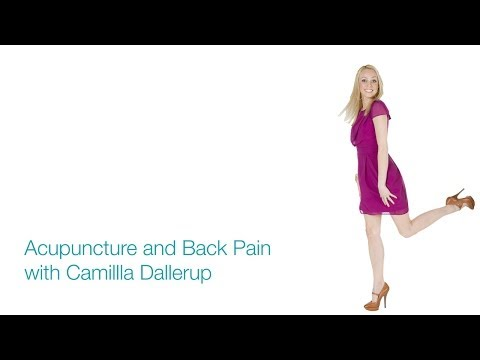 Camilla Dallerup talks about acupuncture and back pain