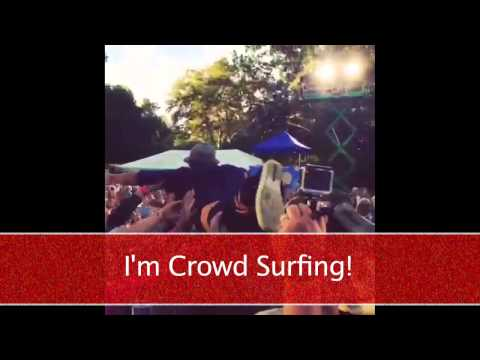 Crowd Surfing At Brad Paisley