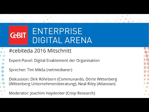 "#cebiteda16: Expert-Panel ""Digital Enablement der Organisation"""