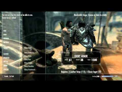 Skyrim How to Get One Of The Best Armour Sets in Skyrim! Ebony Armour