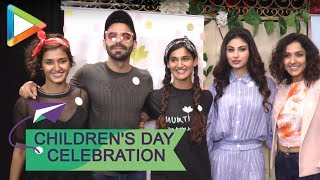 Mouni Roy & Aparshakti Khurrana attend 'Bagiya Mein Bagawat' play on Children's day - HUNGAMA