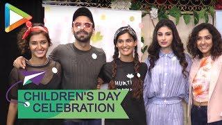 Mouni Roy & Aparshakti Khurrana attend 'Bagiya Mein Bagawat' play on Children's day - HUNGAMA