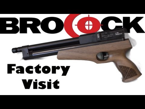 BROCOCK AIR GUNS: New PCP Air Pistol and Elite Range -  Factory Visit