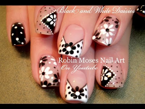 Easy Nail Art for Beginners!!! DIY Flower Nails Design Tutorial