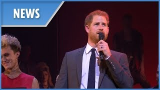 Prince Harry on stage at musical 'Bat Out of Hell' - THESUNNEWSPAPER