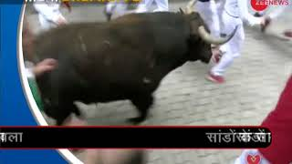 Morning Breaking: Two severely injured in the bull-run festival in Pampalona - ZEENEWS