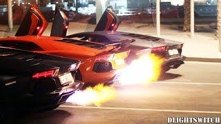 منافسة صوتية مذهلة بين 3 سيارات لامبورجيني أفينتادور قطرية (فيديو)