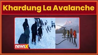 10 people were trapped under snow after an avalanche in Ladakh's Khardung La pass on Friday morning - NEWSXLIVE