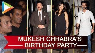 Salman Khan, Anil Kapoor, Kriti Sanon, Ekta Kapoor & others at Mukesh Chhabra's birthday party - HUNGAMA