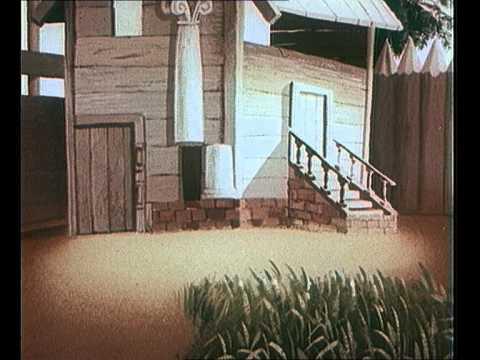 Кадр из мультфильма «Лиса-строитель»