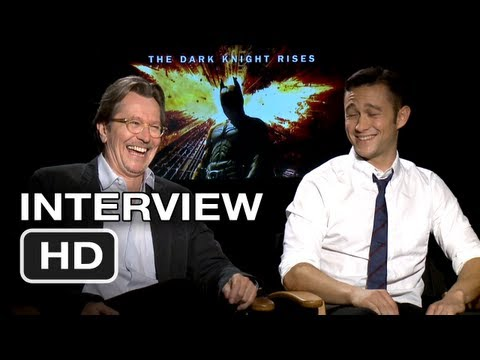 The Dark Knight Rises Interview - Gary Oldman, Joseph Gordon-Levitt (2012) HD