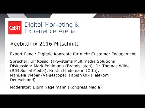 "#cebitdmx: Expert Panel ""Customer Engagement"""