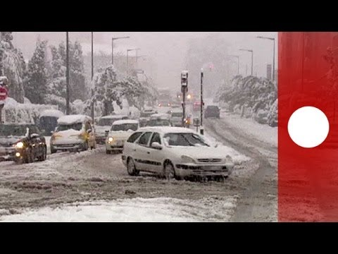 First snow of winter: Travel disruption in France and Spain