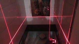 Скоростная укладка плитки в туалете!