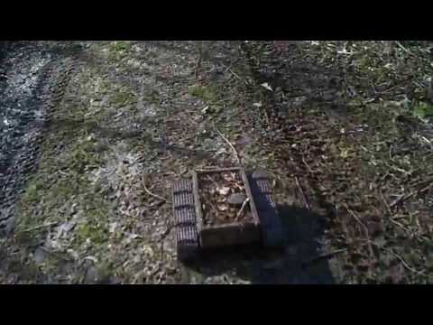 #31 Homemade RC tracked vehicle ( UGV ) - Between dry shrubs - J.Laci