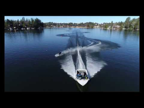 Drone waterski footage from 12/27-28/16 - Aerial Extreme