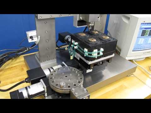 CUSTOM AEROTECH 4-AXIS CNC BENCHTOP MILLING MACHINE w/ ROTARY TABLE
