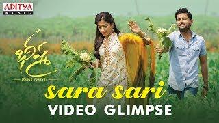 Sara Sari Video Glimpse | Bheeshma Movie | Nithiin, Rashmika| Venky Kudumula | Mahati Swara Sagar - ADITYAMUSIC