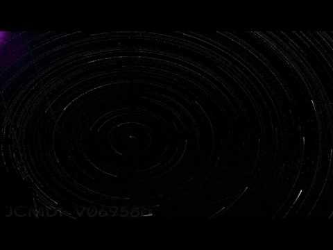 Polaris star rotation night sky timelapse short ver V06958a