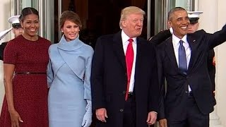 The Obamas greet the Trumps at White House - CNN