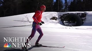 Biathlete Lowell Bailey Chases Olympic History | NBC Nightly News - NBCNEWS