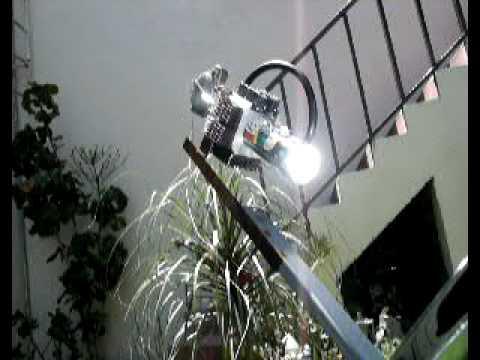 Energia Solar Gratis¡¡concentrador solar parabolico,  MOtor stirling y generador.. pruebas