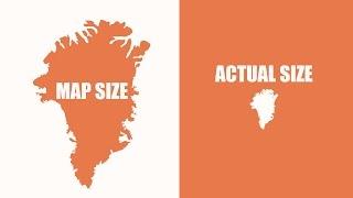 Conoce el tamaño real de los países con estos mapas