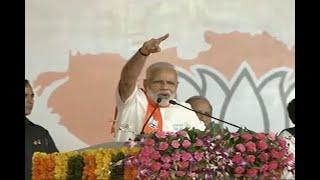 In Graphics: IN PICS: PM Modi Attacks on Congress in gandhinagar - ABPNEWSTV