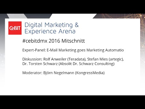 "#cebitdmx: Expert-Panel ""E-Mail Marketing goes Marketing Automation"""