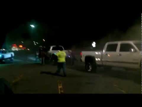 Dodge Cummins vs Chevy Dragged around parking lot