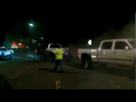 Dodge Cummins vs Chevy Dragged around parking lot
