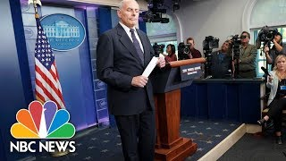 Watch Live: Gen. Kelly Speaks at White House Briefing - October 19, 2017 - NBCNEWS