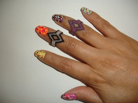Bisuteria paso a paso  Above Knuckle Ring