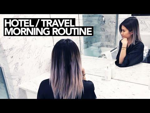 Travel/Hotel Morning Routine || Sylvia Jade