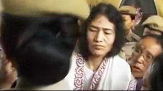 Irom Sharmila, shouting, forcibly removed from fast venue by cops - NDTV